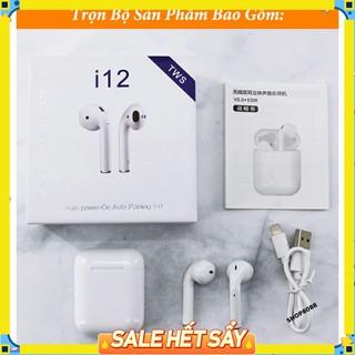 Tai nghe bluetooth không dây GUTEK I12 TWS điều khiển cảm biến âm thanh hifi cho android ios thumbnail