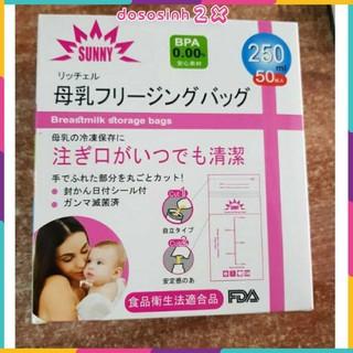 Túi trữ sữa Sunny 250ml- hộp 50 gói