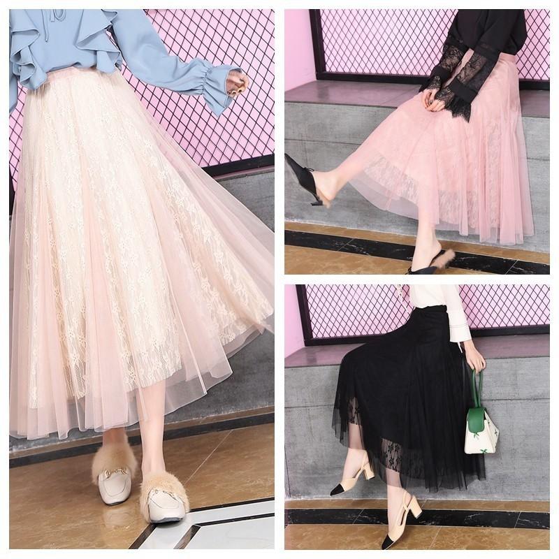 Váy công chúa phối ren và lưới