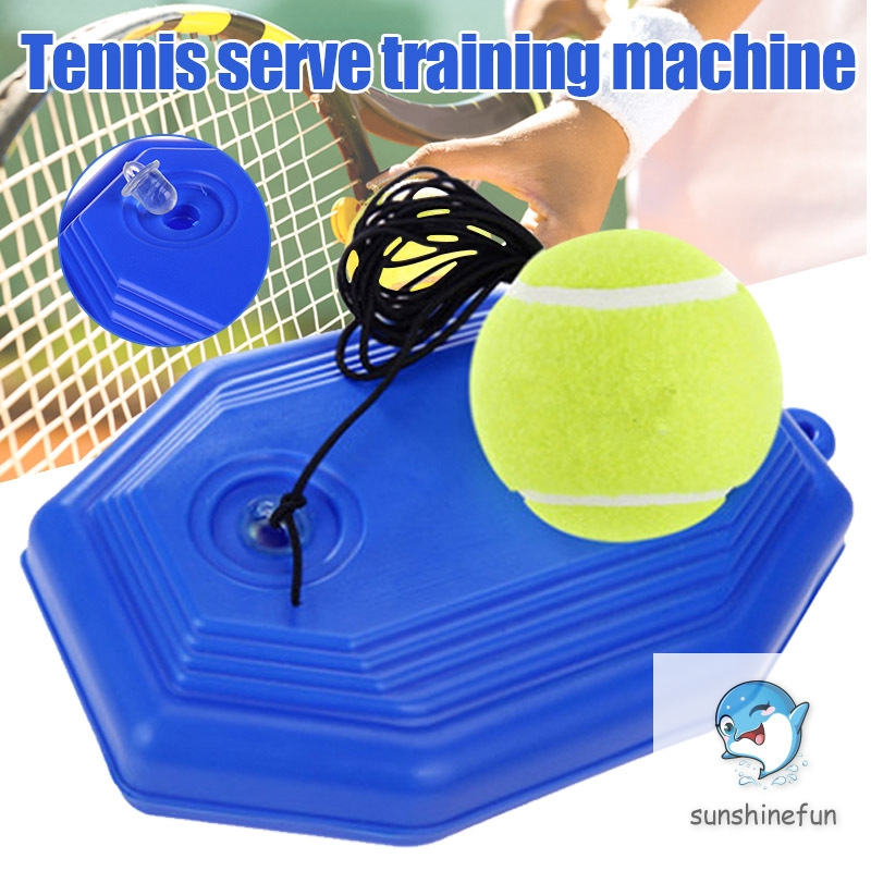 ✅READY STOCK✨ 1 Set Tennis Trainer Tennis Base+Training Ball with Rope Durable Easy to Use