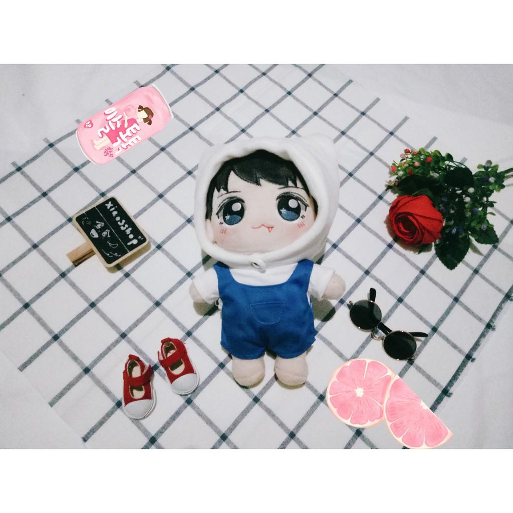 Set áo yếm mũ Outfit Doll 20cm (trang phục búp bê) [hàng order - ảnh thập shop tự chụp]