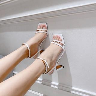 Sandal dây mãnh gót dẹp 9p, sandal dây đôi, sandal quai ngang 9p
