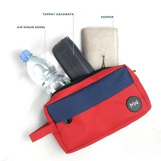 Túi Nhỏ Chống Thấm Nước Màu Đỏ Navy - Sp001 thumbnail