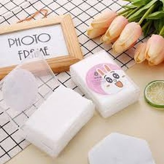 Bông tẩy trang mini hộp nhựa siêu cute n8