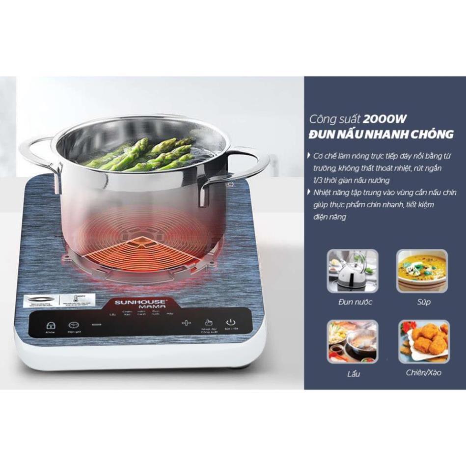 Bếp từ cảm ứng SUNHOUSE MAMA SHD6858 giá cạnh tranh