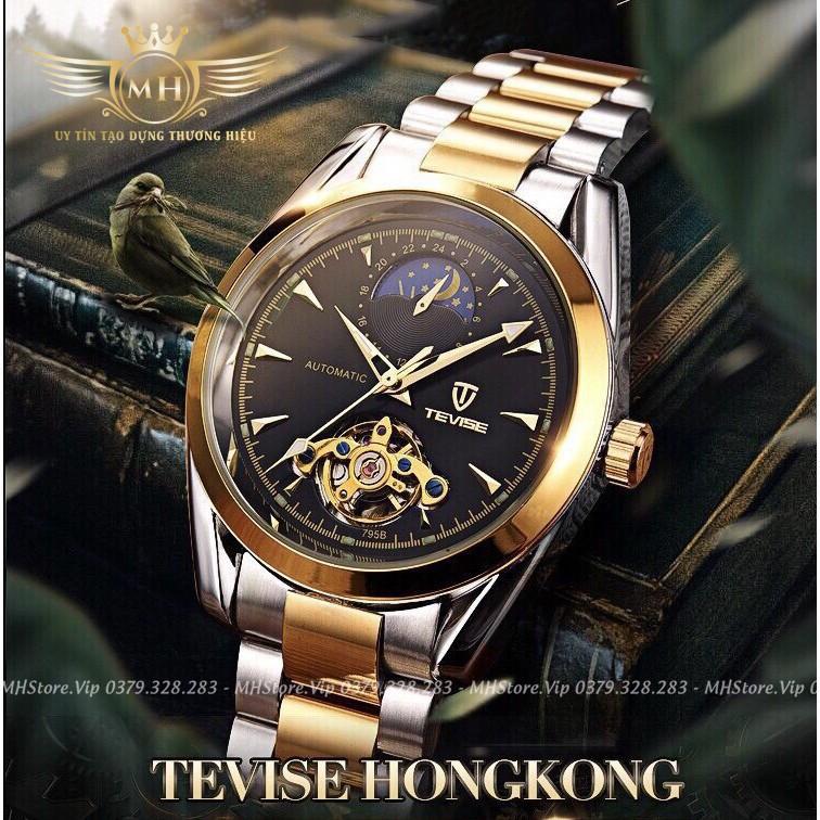 Đồng hồ nam TEVISE máy cơ ⚡FreeShip⚡ Dây chống gỉ, chống nước, chống xước cao cấp + Tặng vòng tay may mắn