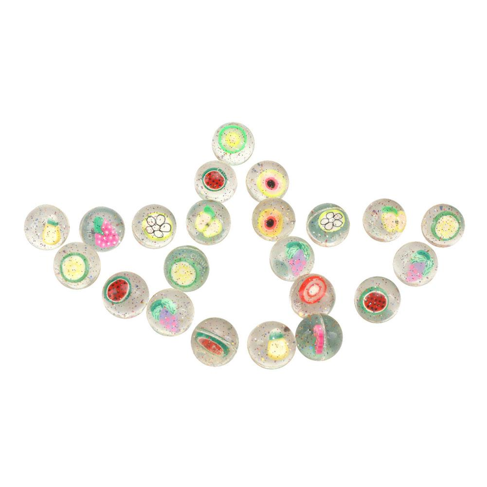 24PCS Favorite Birthday Party Rubber Balls Clear Fruits Kid Bounce