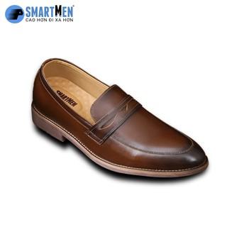 Giày Lười Tăng chiều cao da bò SmartMen GLC-350 Nâu thumbnail