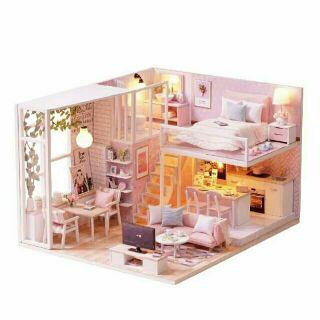 Mô hình nhà gỗ búp bê dollhouse DIY – Kèm Mica – L022 Tranquil