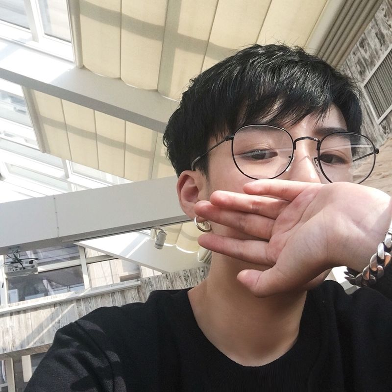 Pearl Myopia Glasses Frame Female Korean Retro Chain Tide Flat Mirror Plain Mirror Chain Student Radiation-Proof Male bOEy