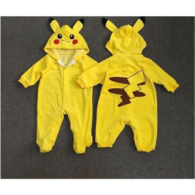IE❤Bộ yếm cosplay Pikachu cho bé yêu
