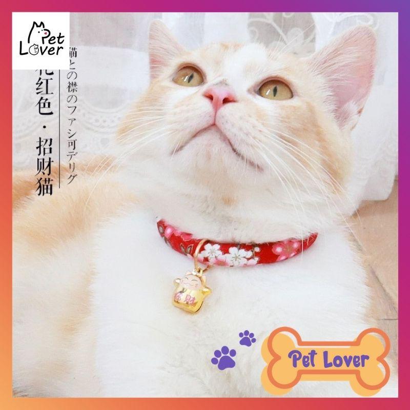 [FREESHIP] Vòng cổ cho mèo, Vòng Cổ Cho Chó Mèo, Kèm Chuông, màu sắc dễ thương, phong cách Nhật Bane Cute - Petlover-Xanh
