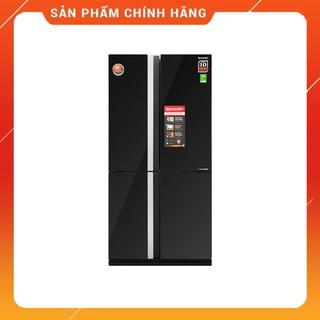 [ VẬN CHUYỂN MIỄN PHÍ KHU VỰC HÀ NỘI ] Tủ lạnh Sharp 4 cánh màu gương đen SJ-FX688VG-BK - [ Bmart247 ]
