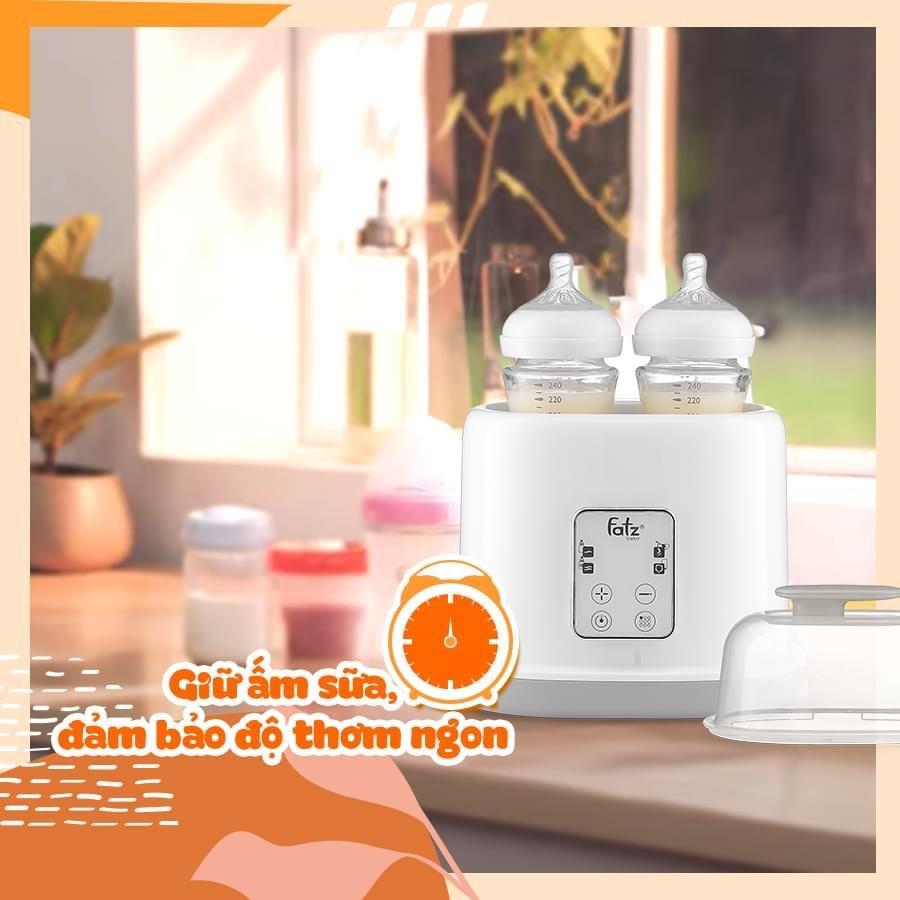 [CHÍNH HÃNG] Máy Hâm Sữa, Tiệt Trùng 2 Bình Điện Tử Duo 2 - Fatz Baby FB3223SL