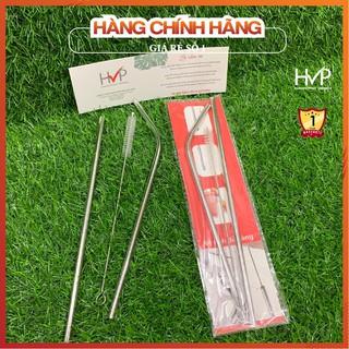 [An toàn sức khỏe]- Ống hút inox - Bộ ống hút inox 304 (Cong, thẳng & cọc rửa) - Tái sử dụng, thân thiện với môi trờng