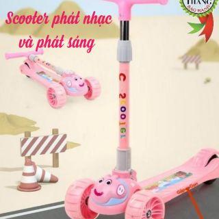 Scooter thiết kế dễ thương có thể phát sáng và phát nhạc dành riêng cho bé
