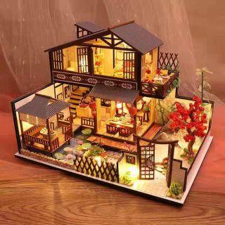 Kèm Mica và keo dán – Mô hình nhà gỗ búp bê Dollhouse DIY – P002 Forest Valley