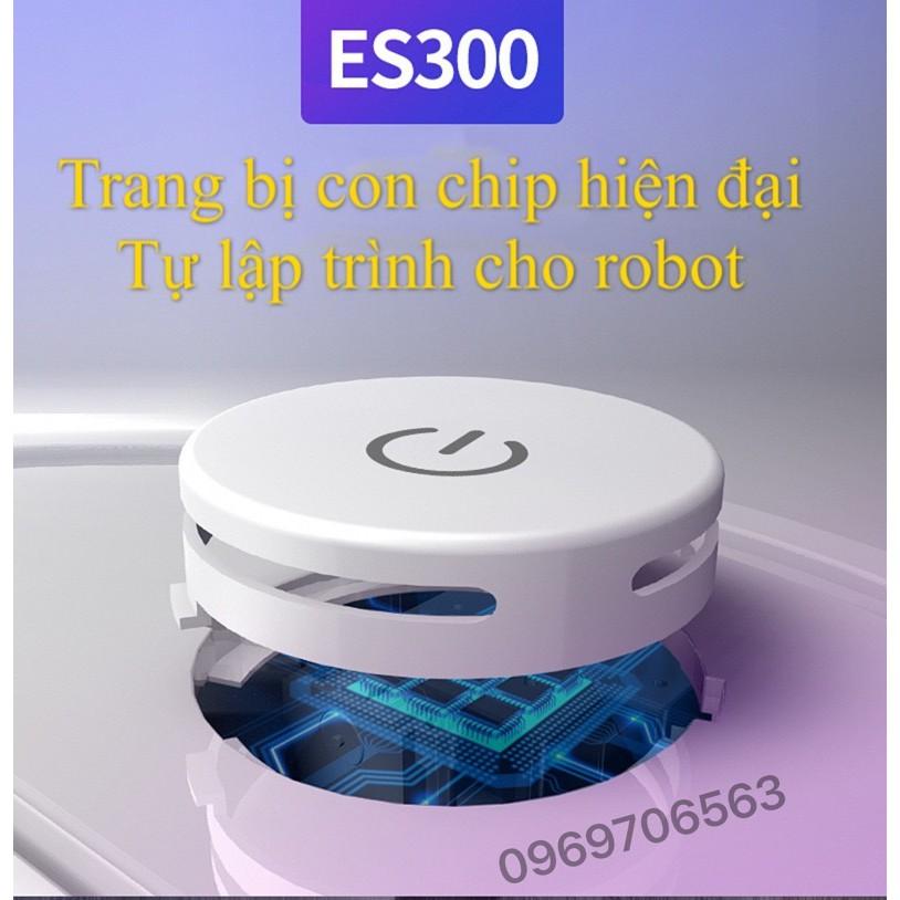 Robot Hút Bụi Thông Minh Thế Hệ Mới ES300 Pro 2021 Siêu Mạnh Mẽ Tích Hợp Cảm Ứng Chạm, Kiêm Lau Nhà Bản Nâng Cấp Động Cơ
