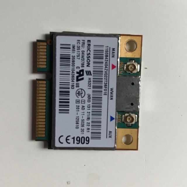 Card dữ liệu di động 3g WWAN Ericsson H5321 Gobi3000 (FRU PN:04W3786) cho lenovo Thinkpad X1 carbon X230,T430,T530,W530