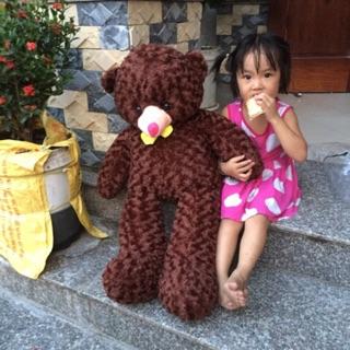 Gấu bông khổ vải 1m
