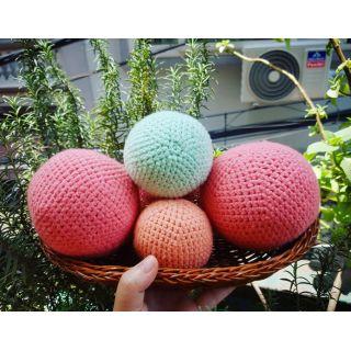 Combo 03 quả bóng móc len