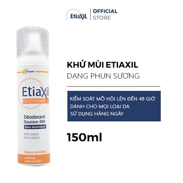 Xịt Phun Sương Khử Mùi Ngăn Mồ Hôi Chuyên Biệt Etiaxil Deodorant Douceur 48h Aérosol 150ML