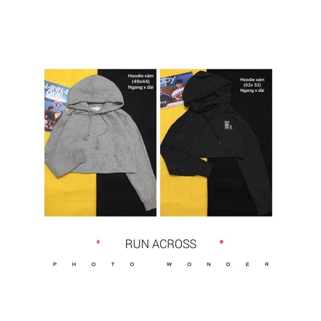 Combo 2 áo hoodie croptop