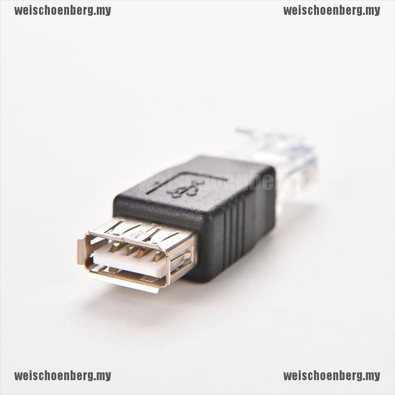 Đầu chuyển đổi RJ45 đực to USB AF A cái tiện dụng