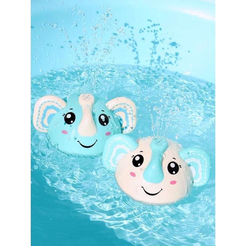 Đồ chơi nhà tắm voi xoay phun nước tự động