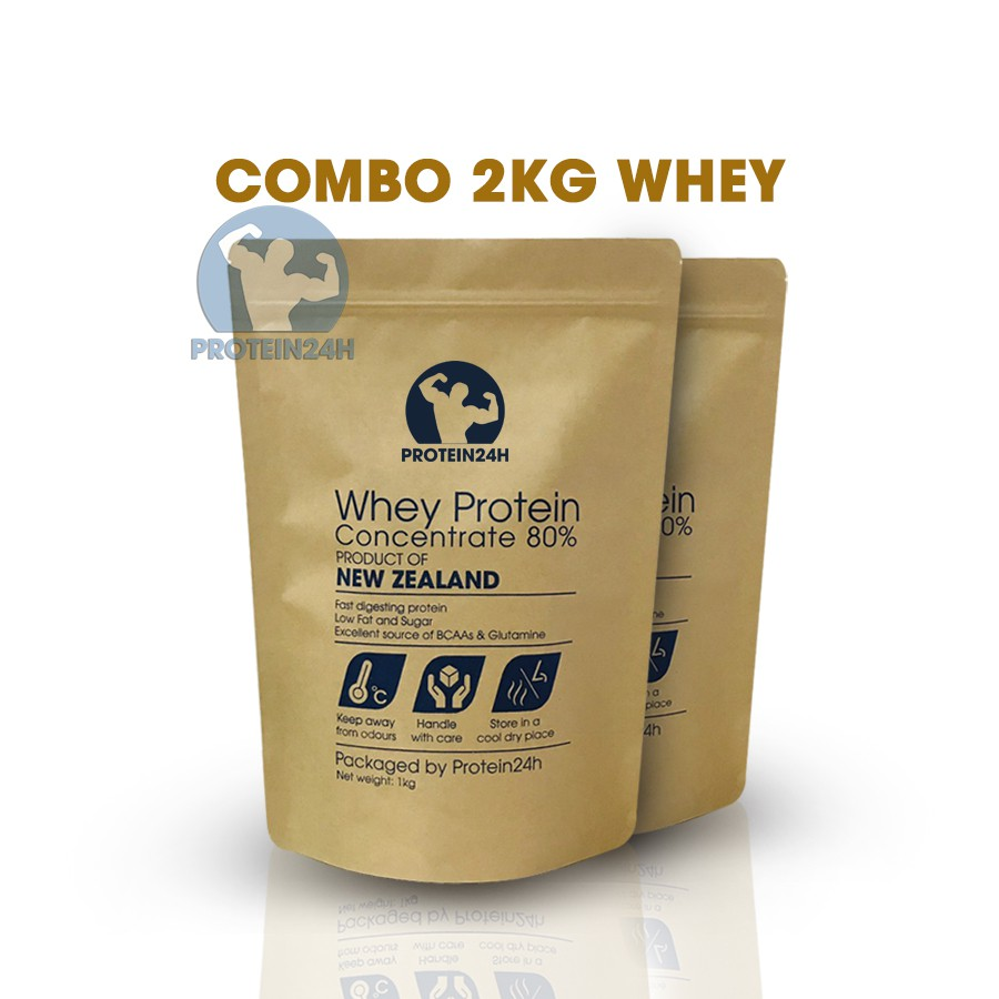 COMBO 2KG WHEY PROTEIN CONCENTRATE 80% NZMP