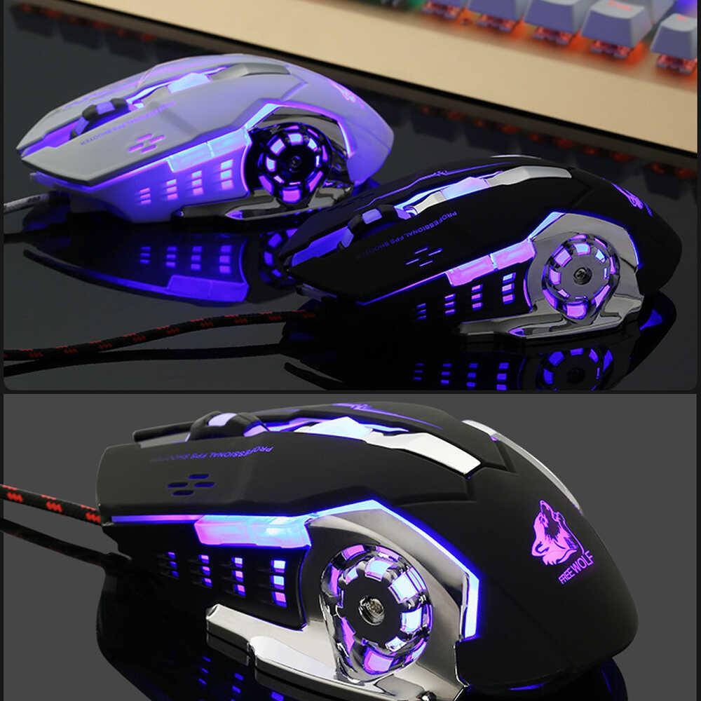 Chuột không dây chuyên game pin sạc EWEADN M500 Led 7 màu