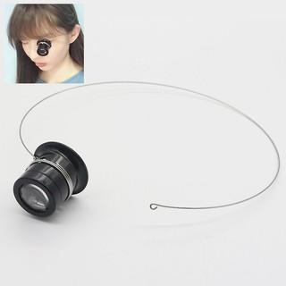 Kính lúp sửa đồng hồ đeo mắt có khung treo lỗ tai - zoom x5 x10 x15 - watch repair magnifier glass