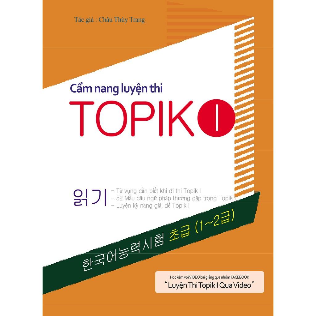 Trọn bộ Cẩm nang luyện thi Topik I, II tặng Bài tập tiếng Hàn tổng hợp sơ cấp 1 hoặc 2