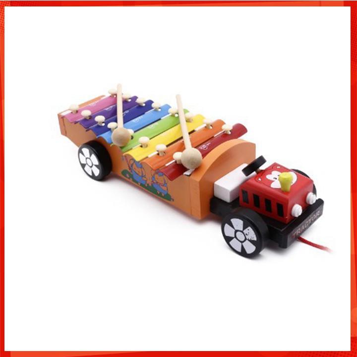 [ CÓ SẴN] Đồ chơi đàn gõ xe kéo bằng gỗ cho bé hình ô tô [BRANDNEW]