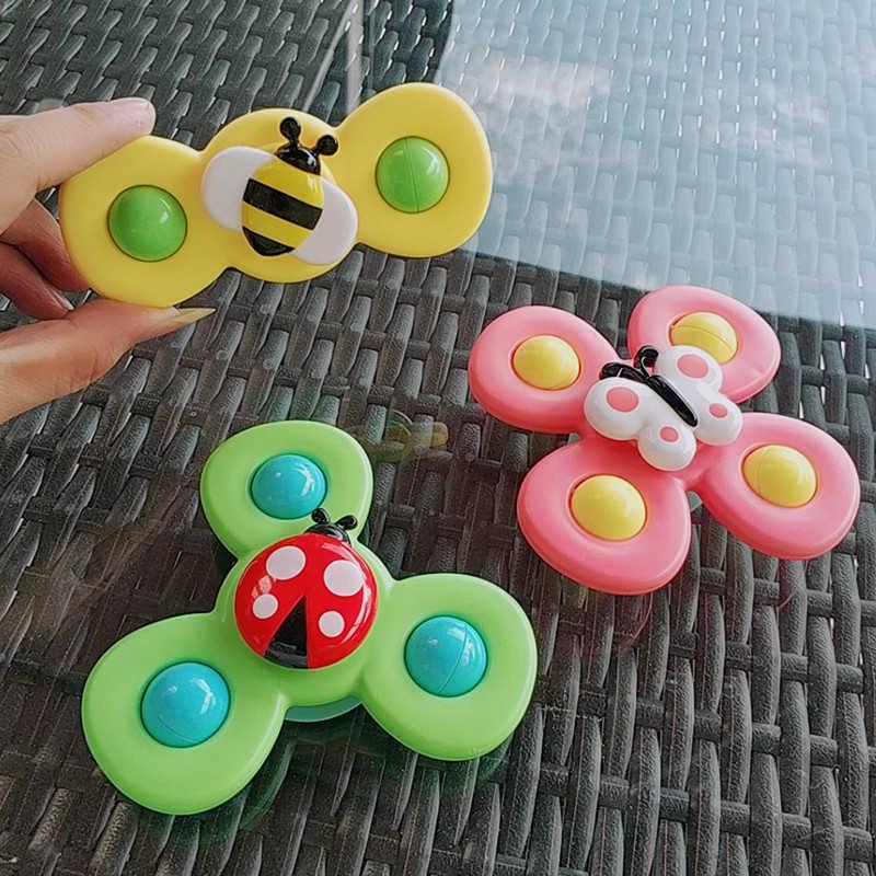 Đồ chơi set 3 con quay spinner hình côn trùng vui nhộn cho bé sơ sinh và trẻ nhỏ trên 1 tuổi