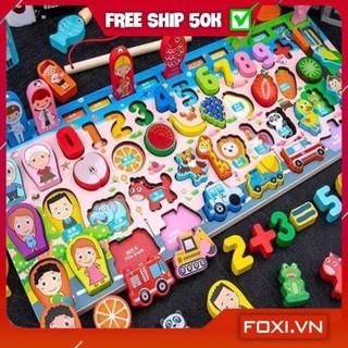 [FREESHIP+TẶNG QUÀ] Đồ chơi ghép hình bằng gỗ Foxi-Đồ chơi trẻ em lắp ráp trí tuệ-tăng trí thông minh và tập trung