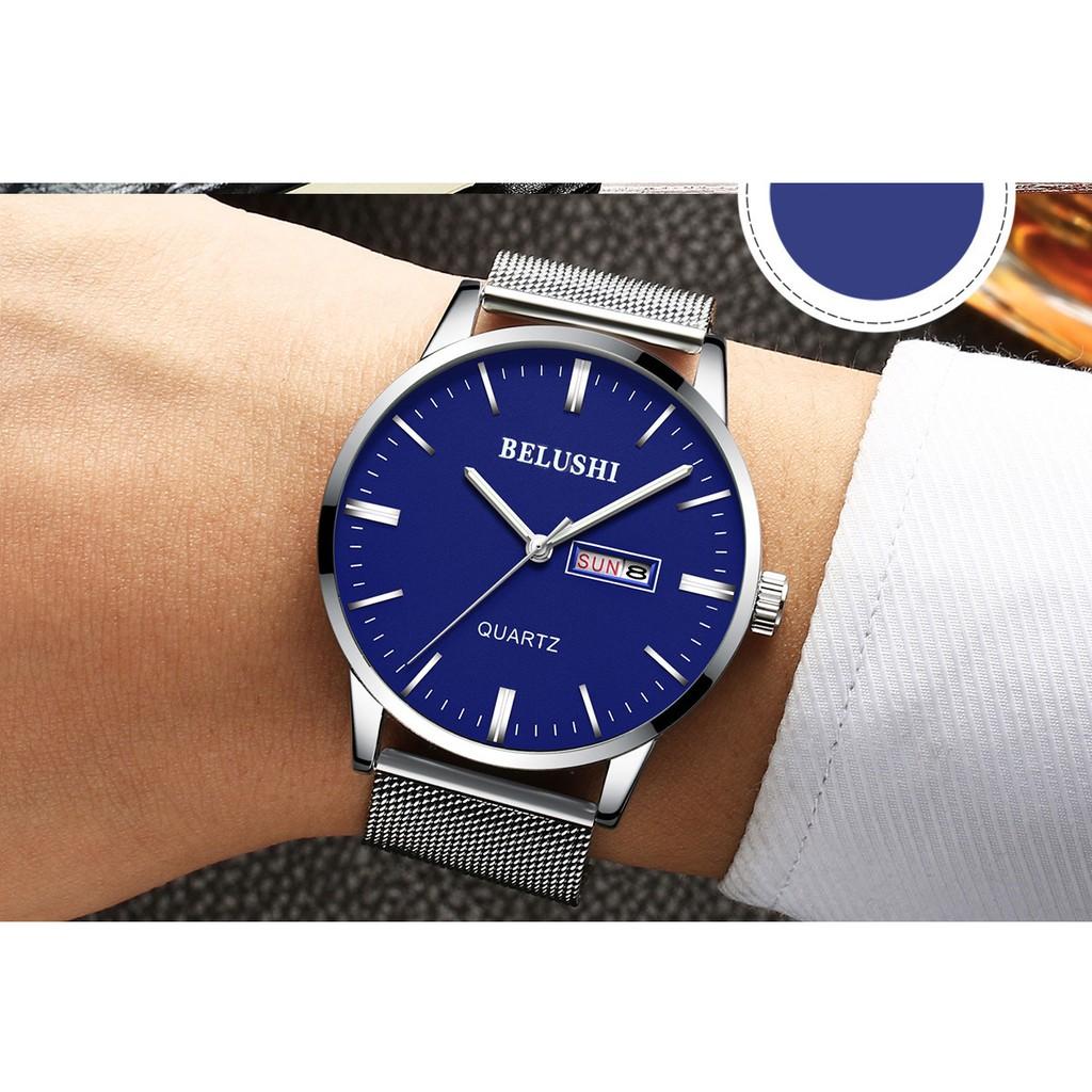 Đồng hồ nam BELUSHI BLUS1995 dây thép không gỉ cao cấp