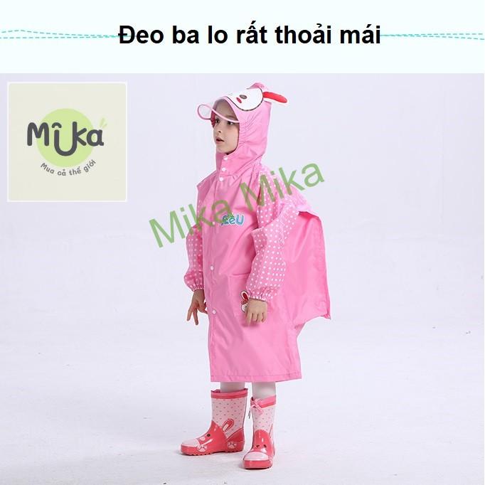 Áo mưa cho bé chống mưa gió không thấm nước an toàn không mùi không độc hại SEEU đeo balo