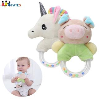 Cartoon Single-horned Horse Piggy Baby Hand Ring Rattle