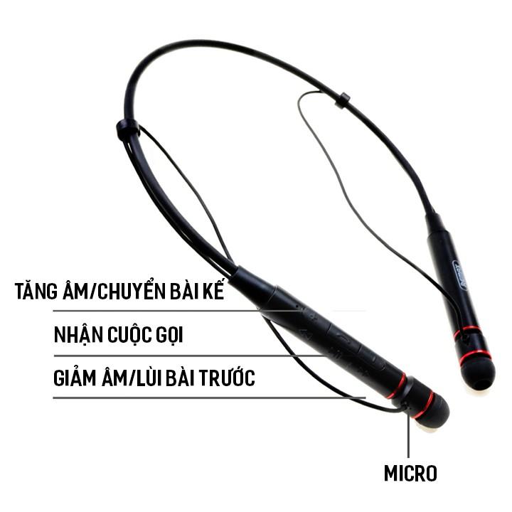 [Mã ELTECHZONE giảm 5% đơn 500K] Tai nghe Bluetooth Remax RB-S6 / Remax S6 thể thao choàng cổ có 2 đầu hít nam châm