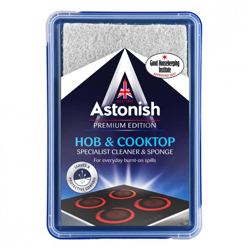 Kem tẩy mặt kính bếp điện, nồi chảo Inox Astonish C8630 250g (tẩy cháy khét mặt bếp điện từ, hồng ngoại, halogen)