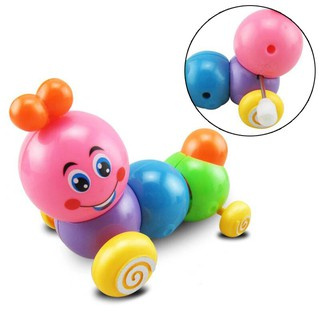 Cute Cartoon Colorful Insect Wind Up Baby Toys Infant Running Clockwork Toys
