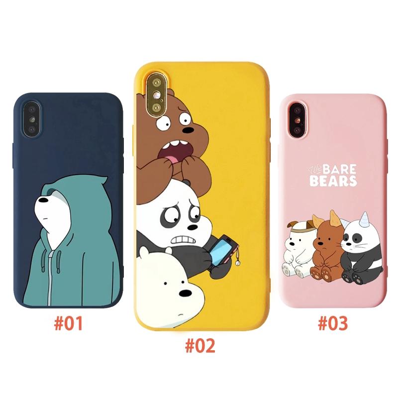 Ốp lưng dẻo silicon hình gấu cho IPhone 6 6s 7 8 6Plus 6sPlus 7Plus 8Plus X