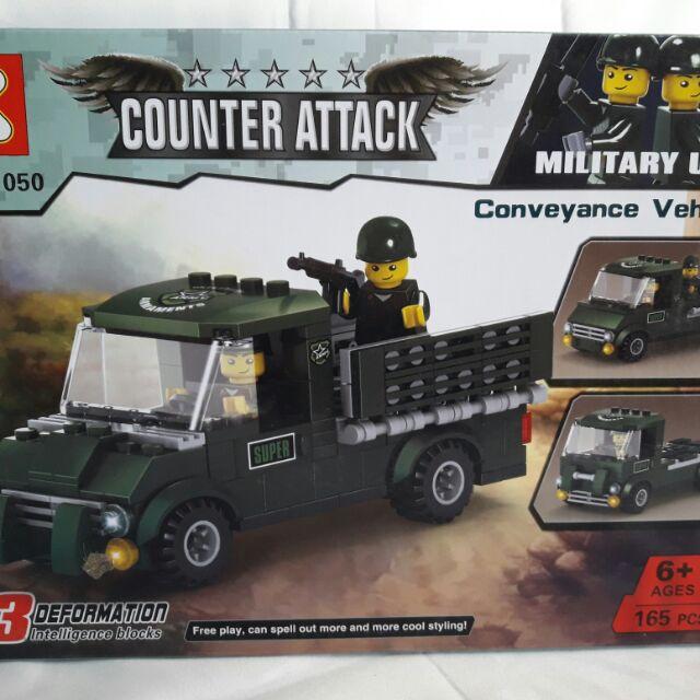 Lego K Xe quân sự - Xe chiến đấu 11050 ráp 3 kiểu - 165 chi tiết