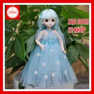 Búp bê công chúa FREESHIP Búp bê Baboliy 30cm 22 khớp tóc xanh cực xinh là món quà vô cùng đáng yêu cho bé gái thumbnail