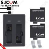 Pin SICAM M20 900mAh 3.8V(2 viên ) + Sạc đôi SJCAM M20, Pin SJCAM đúng dung lượng