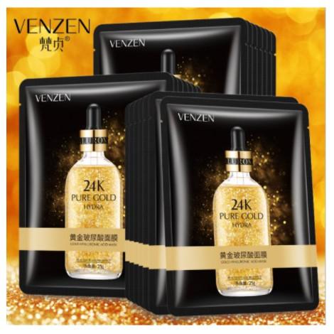 Mặt nạ tinh chất vàng 24K Pure Gold Venzen dưỡng trắng, cấp ẩm, tăng đàn hồi cho da
