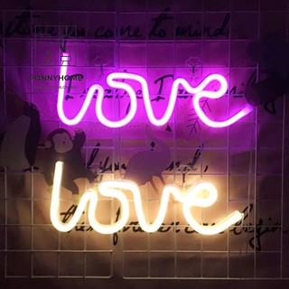 Đèn Trang Trí Huỳnh Quang chữ LOVE, HOME
