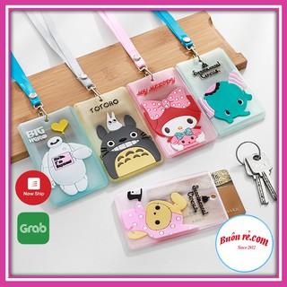 Túi đựng thẻ xe bằng silicon có dây đeo in hình cute đựng vé xe tháng, thẻ ngân hàng, Buôn rẻ 01126 thumbnail
