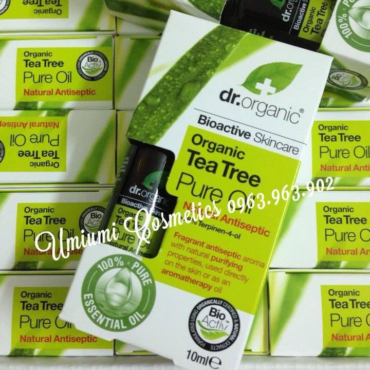 Tinh dầu trà xanh hữu cơ Dr.Organic (HÀNG CHECK TẠI STORE UK - ĐỦ BILL)